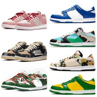 Branco off SB Dunk Low Men mulheres correndo Casual Shoes Sports VALENTINE Chunky Dunky Safari Sneakers Azul Verde Dunk treinadores online