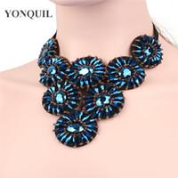 Mulheres Preto colar azul talão da jóia colarinho falso populares choker acessórios pendentes para jóias clássico colares frete grátis SYBC44