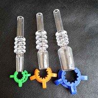플라스틱 keck 클립이있는 석영 팁 흡연 액세서리 Banger 10mm 14mm 18mm 티타늄 네일 담뱃대 유리 물 봉지 파이프 DAB 오일 장비