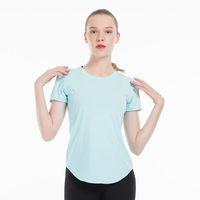 اللياقة البدنية المرأة اليوغا تشغيل أعلى سريع الجافة قصيرة الأكمام القمصان شبكة تجريب الرياضة ضغط الجوارب رياضة الملابس