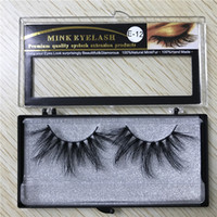 25mm long 6D mink hair false eyelashes to make eyelash lengt...