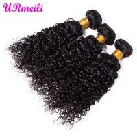Brasileiro Kinky Curly Virgin Cabelo Weave 3/4 Pacotes ondulado Humanos cabelo encaracolado Pacotes Extensões de cabelo humano mongol Curly Pacotes