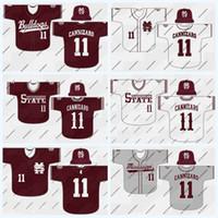 Mississippi State Bulldoggen 28 Christian Macleod 35 Bassiel Williams 36 Hunter Blalock 37 Eric Cerantola NCAA College Baseball Jersey