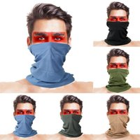5Pcs Solid Color Anti UV Windproof Face Cover Neck Gaiter Cy...