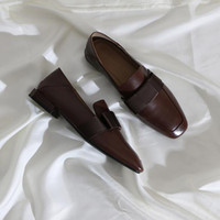 디자이너 여성 정품 가죽 로퍼 나비 넥타이 광장 발가락 아가씨 게으른 신발 슬립에 얕은 입 아파트 야외 패션 여성 드레스 신발
