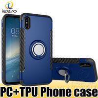 Verus Ring Armor Phone Case TPU PC Двойной слой Протектор адсорбции Чехол для автомобиля Трудные 2 в 1 Протектор для Samsung Note 10 Plus