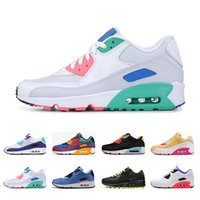 2019 nike air max 90 Nouvelle Arrivée Hommes Femmes Baskets De Sport Viotech INFRARED CHINA ROSE BE TRUE Chaussures de course Blanc-Laser Fuchsia Mode Hommes Trianers 36-46
