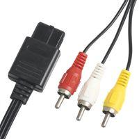 N64 için Nintendo için SNES GameCube / For 500pcs üst kalitede video oyun konsolu kablo 180cm AV TV RCA Video Kablosu Kablo İçin Oyun küp