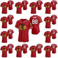 88 Patrick Kane Chicago Blackhawks 2020 Hóquei X Baseball Crossover Jerseys Duncan Keith Jonathan Toovs Bobby Hull Stan Mikita Zack Smith