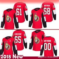 baratos Ottawa Senators 61 Mark Stone Hockey Jerseys 65 Erik Karlsso 68 Mike Hoffman Jersey 522