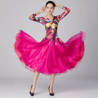 Stage Wear Ballroom Competition Dance Dress Donne Dancewear Dancewear Tango Valtz Dancing Standard Sexy Costumi moderni
