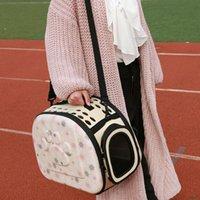 الكلاب القط الناقل للطي قفص لطي قفص حقيبة بلاستيك حمل حقائب الحيوانات الأليفة مستلزمات الرافعات ساك دي بور شين النقل