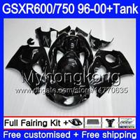 바디 + 탱크 SUZUKI SRAD GSXR 용 750 600 GSXR600 96 97 98 99 00 291HM.5 GSXR-600 GSXR750 ALL 광택 블랙 1996 1997 1998 1999 2000 페어링