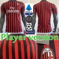 19 20 Player version AC Milan Soccer Jersey 2019 Home PIATEK...