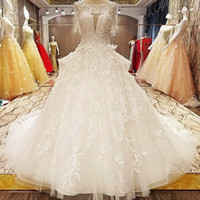 Princess Style Wedding Dress Beading Crystal Ball Gown O Nec...