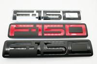 استبدال 1X أسود أحمر فضي F150 جانب السيارة ملصق الباب الخلفي الخلفية شعار شارة رسالة قسط 3D اللوحة للفترة 2004-2008 F150