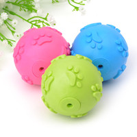 Dog Ball Training Treat Ball Mascota Limpieza de dientes Perros duraderos Juguetes interactivos para masticar