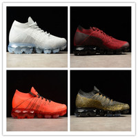 Nike Air VaporMax Flyknit 2018 Nuovo Vp 2.0 Arcobaleno Be True Uomini Shock Corsa fuori White Shoes For Real di qualità moda casual Sport Più Sneakers CB42