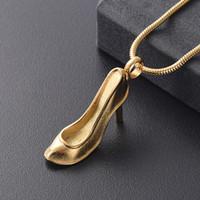 SB0002 Kadınlar Aksesuar Takı Şık Yüksek topuklu ayakkabılar Hediye Öğe Memorial Urn kolye Tut One Ashes Keepsaker sevilen
