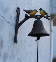Cast Iron Hanging Bird Welcome Bell Dinner Bell Hand Painted...