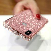 Custodia per cellulare di lusso per iPhone 11 12 Pro XR XS Max glitter Diamond Diamond Iphone Custodia per iPhone per iPhone 678 Plus