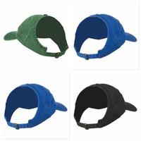 Girls queue de baseball bouchons de baseball à moitié vide chapeau de soleil top visière façade chevauche casquette bublier snap-snapback caps capuchon naturel chapeaux respirants DYP99