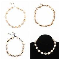 Mujer de la Concha Natural collar de la manera de la cuerda de la joyería hecha a mano estilo hawaiano perla Seashell corto clavícula Gargantilla TTA1391-14