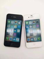 잠금 해제 된 iPhone 4S A5 듀얼 코어 3.5 인치 폰 8 / 16 / 32 / 64GB ROM GSM 8MP 카메라 WiFi GPS iOS 휴대 전화