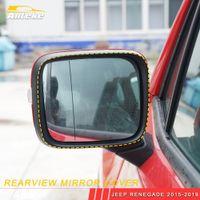 Pour Jeep Renegade 2015-2019 Construction de voitures Réflecteur Réflecteur Miroir Miroir Protecteur Décor Cadre Cadre Cadre Sticker Accessoires extérieurs