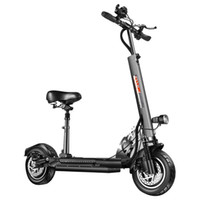 YouPing Q02 Faltender elektrischer Roller 500W Motor 48V / 15H Batterie 10 Zoll Reifen mit Sitz - Schwarz