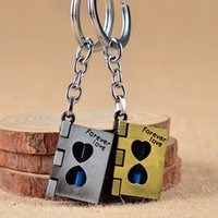 Harri Potter Magic Book Couple Key Chain Time Hourglass Keyc...