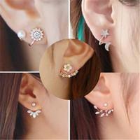 국가의 베스트 셀러 귀 스터드 작은 매력적인 스노우 플레이크 귀걸이 심장 - 모양의 패션 쥬얼리 도매