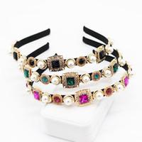 Vintage cristal strass baroque bandeau baroque bijoux diamant couronne fleur mariée accessoires de cheveux de luxe femme