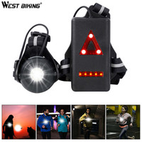 WEST BIKING Running Light 2200mAh USB Battery Night Warning ...