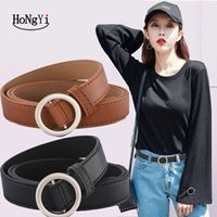 Ремни Hongyi женская искусственная кожа мода ретро пояс высококачественные женские металлические черные пряжки с джинсами