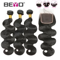 Beyo Peruvian Hair Bundles With Closure Body Wave Bundles Wi...