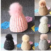 ce24655d New Arrival. girl Pom Pom Beanie Warm Knitted Bobble Kids Fur Pompom Hat  Children ...