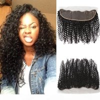 "Curly Wave Frontal Lace Closure with Baby Hair 13x4"" Br..."
