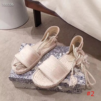 moda Kadın Sandalet Yaz Flats Seksi Bilek Yüksek Boots Gladyatör Sandalet Kadınlar Casual Flats Ayakkabı Tasarımcısı Kadınlar Plajı Roma Sandalet 35-