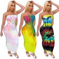 Femmes Night Club Robes sexy de mode sans manches Robes Casual moulante Wrap poitrine Vêtements d'été Vêtements Vente chaude 3043
