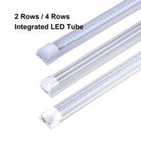 T8 72W 100W LED Tube 2ft 4ft 5 pi 6 pi 8 pi T8 LED intégré Tube fluorescent lumière boutique Garage Remplacer la lampe