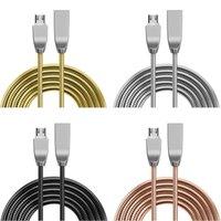 2A Çinko Alaşım Paslanmaz Çelik Metal Mikro Tip C USB Veri Şarj Kabloları Samsung S6 S7 S8 HTC için