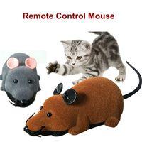 3 цвета электронные беспроводные пульты дистанционного управления мышкой игрушки для мыши домашние животные кошка игрушки RC симуляция мыши мышь плюшевые для детей игрушек