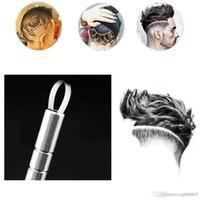 Diseño del salón de pelo mágica de múltiples funciones del pelo de la pluma del grabado navaja de afeitar la barba Set Herramientas del peluquero de la ceja de cortar el pelo