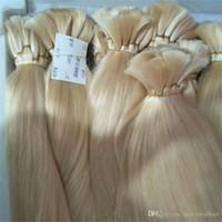 Promoção Top Quality 613 Lixívia Loira Trança Humana Cabelo Em Massa Sem Trama Em Linha Reta cabelo humano Brasileiro comprar 300Gram