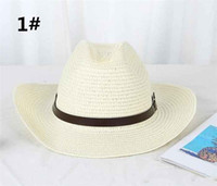 edfd34eb Wholesale mens straw hats for sale - Group buy 20pcs Straw Braid Men Cowboy  Hats with