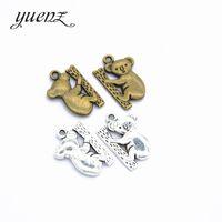 YuenZ 10 قطع أثرية فضية كوال سحر قلادة لل مجوهرات ديي جعل العثور 20 * 15 ملليمتر D9202