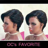 preto cabelo liso Long Front lace capuz cabelo real OC903 Europa e América peruca pode ser tingido chinês cabelo frete grátis suporte atacado