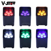 6 unids Par luz Batería inalámbrica DMX WIFI REMOTO 6 * 18W LED RGBWA + UV 6IN1 PAR INCREDIENTÍN Fiesta de boda Mini sonido automático Active Light