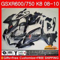 Bodywork per Suzuki GSX-R600 GSXR-750 GSXR600 2009 2009 2010 Matte Black Hot 9HC.63 GSXR750 GSX R750 R600 K8 GSXR 600 750 08 09 10 Fairings